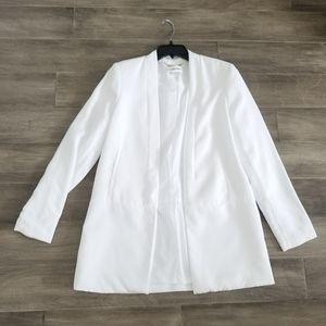 NWOT Calvin Klein White Woven Blazer